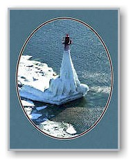 Muskegon Lighthouse in Winter