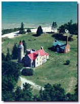 Aerial Photo of the Mackinaw City Lighthouse