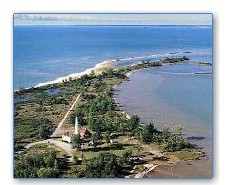 Aerial photo of Tawas Point