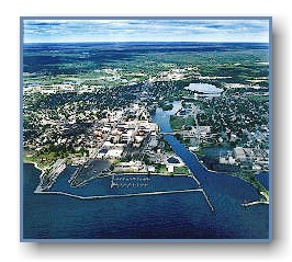 An older view of the Alpena Harbor