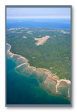 Beaver Island Shoreline and Airport