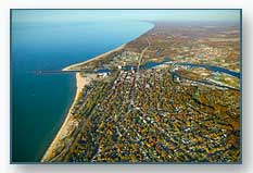 Benton Harbor and St. Joseph in the fall