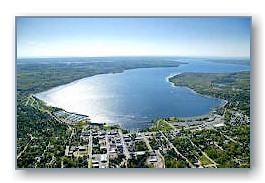 Another aerial photo of Boyne City