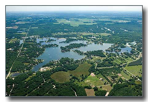 Aerial photo of Candian Lakes, MI