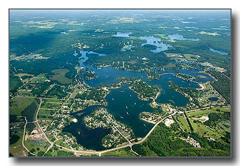 Aerial photo of Candian Lakes MI