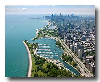 Belmont Harbor and the Chicago Skyline