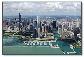 Chicago Skyline & DuSable Harbor