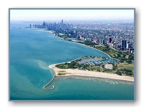 Montrose Harbor and the Chicago Skyline