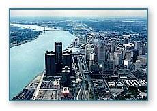 Detroit Skyline looking south