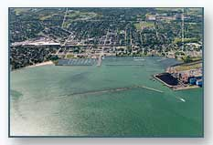 Dunkirk Harbor looking South