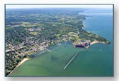 Dunkirk Harbor looking west