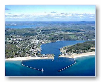 Aerial photo of Frankfort, MI