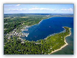 Aerial photo of Harbor Springs, MI