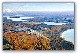 Harbor Springs Airport aerial view