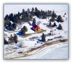 Little Traverse Bay Lighthouse in the winter