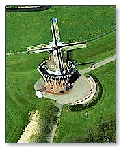 Aerial photo of the Holland Windmill