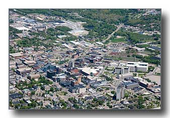 Aerial photo of Kalamazoo, Michigan