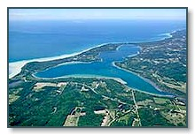 Aerial photo of Lake Leelanau
