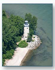 aerial photos of lake erie  lake st clare  and the