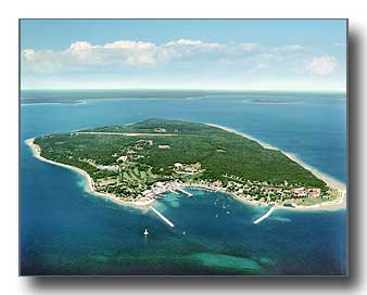 Aerial Photo of Mackinac Island (horizontal)