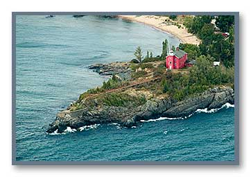Marquette Lighthouse Aerial View