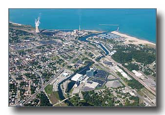 Michigan City, Indiana, Aerial Photos by Marge Beaver