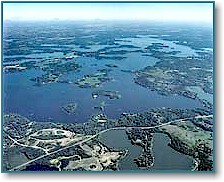 Lake Minnetonka from southwest to northeast