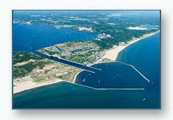 Harbour Towne and the Muskegon Channel