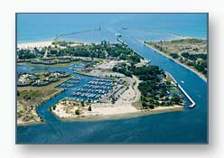The Muskegon Channel and the Harbour Towne Marina