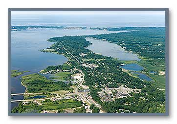 North Muskegon viewed to the West