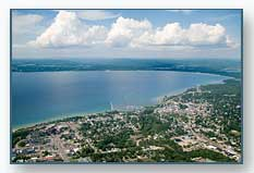 Petoskey viewed to the northeast