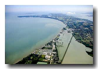 Lake Erie Shoreline Aerial Photo