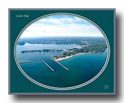 Aerial photo of Sodus Bay Channel