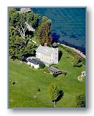 Aerial photo of the Old Sodus Bay Lighthouse