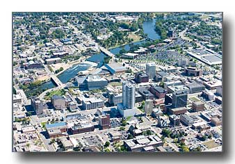 South Bend aerial photo
