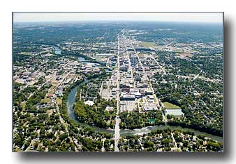 South Bend and the St Joseph River