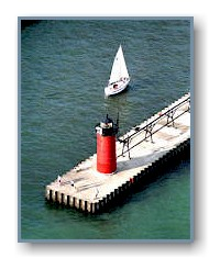 South Haven Lighthouse in Summer