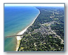 South Haven looking north along the Lake Michigan shoreline