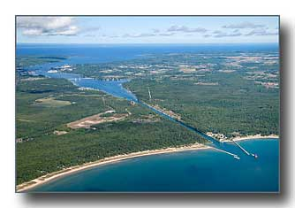 Sturgeon Bay Ship Canal aerial photo