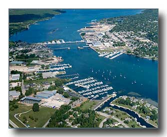 Sturgeon Bay aerial photo