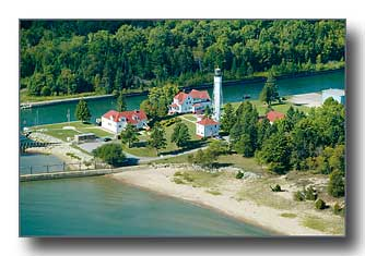 Sturgeon Bay Ship Canal Lighthouse aerial photo