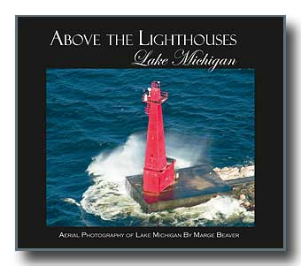 Above the Lighthouses - Lake Michigan