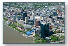 Downtown Toledo, OH, aerial photo