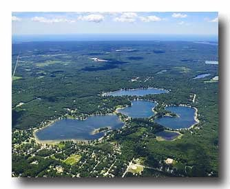 Skyline aerial photo of Twin Lake