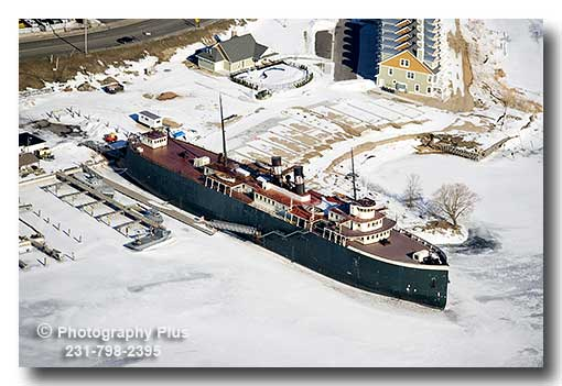 Aerial Photo Of The S S City Of Milwaukee Steamship The