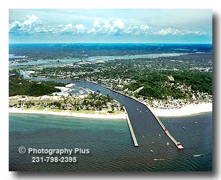 Grand River Flow >> Aerial Photo Of Grand Haven Michigan Where The Grand River