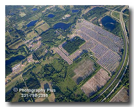 Aerial Photo Of The Rothbury Music Festival 2008 At The