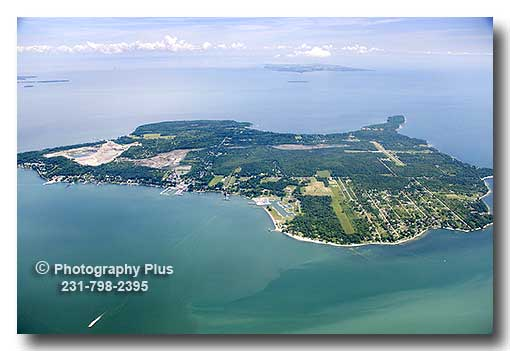 Aerial Photo Of Kelleys Island In The Western Portion Of
