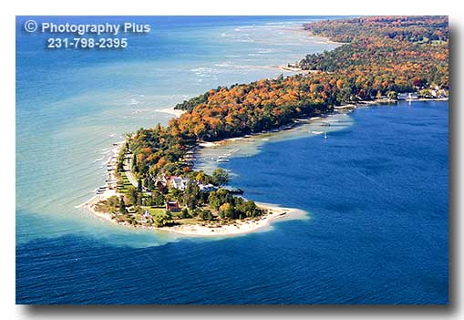 Aerial Photo Of Harbor Point In Little Traverse Bay At