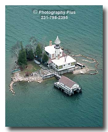 Aerial Photo Of Dollar Island A Privately Owned Michigan